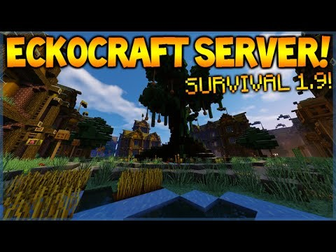 Minecraft server 1.9 – CUSTOM SURVIVAL SERVER – Join Today! (eckocraft.mcph.co)