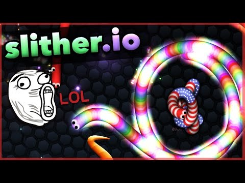 SLITHERING INTO NUMBER 1!! – NEW Slither.io – Becoming The Biggest Snake! (Funny Moments)