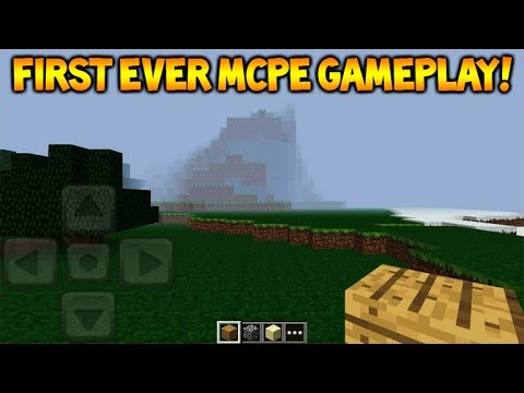 ★THE FIRST EVER MCPE VERSION!! Minecraft Pocket Edition Version 0.1! First Experience!★