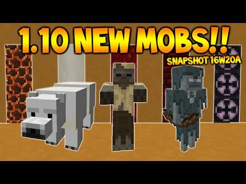 1.10 Minecraft SNAPSHOT (16w20A) – Polar Bears, NEW Skeleton Types, NEW Villages (Minecraft 1.10)