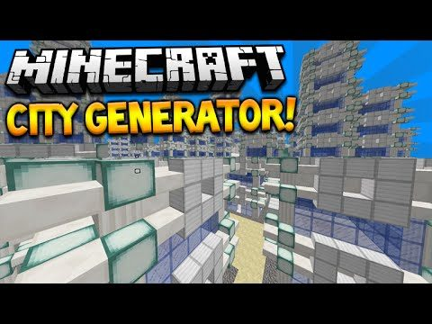CITY GENERATOR!! Minecraft 1.9 One Command Creation Creates Custom City's (MC 1.9)