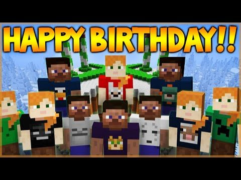 Happy 4th Birthday Minecraft Xbox 360 Edition (NEW Skinpack Showcase)