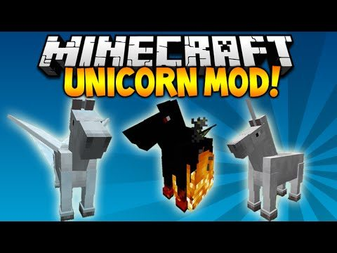 Minecraft 1.9 – UNICORN  PEGASUS MOD! CUSTOM ARMOR, WINGS, HORSES Minecraft Mod Showcase