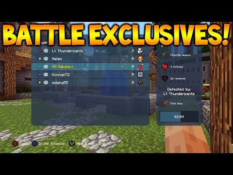 Minecraft Console – NEW BATTLE MODE – Exclusive Features, ALL MAPS + Game Options (Battle Mode)