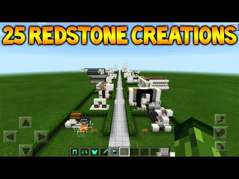 Minecraft Pocket Edition – 25 Different Redstone Creations (Pocket Edition)