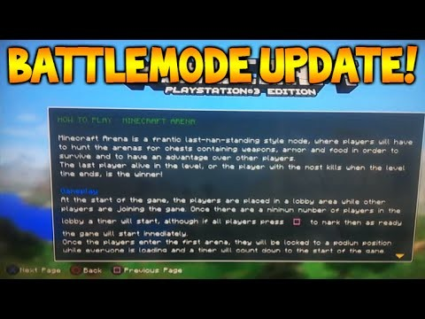 Minecraft Xbox 360/PS3 – NEW Battlemode Arena Gamemode Loading Screen Menu Screenshot