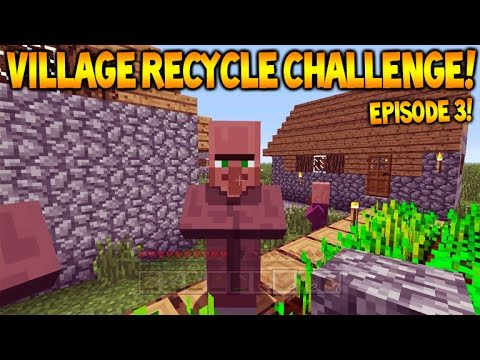 Minecraft Xbox – Village Recycle Challenge – Village Trading Episode 3