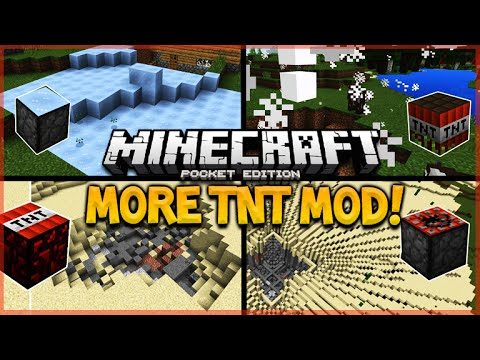 MORE TNT MOD!! – Minecraft Pocket Editon More TNT Mod, House TNT, Laggy TNT & MORE (Minecraft PE)