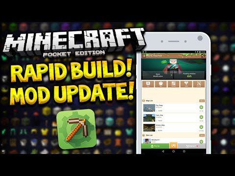 RAPID BUILD MOD!! – Minecraft Pocket Edition MCPE Master App UPDATE! 0.14.3 + (Pocket Edition)