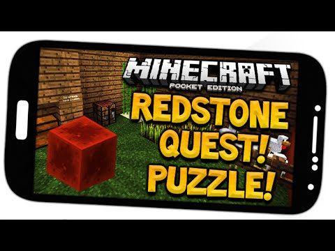 REDSTONE QUEST [PUZZLE] Minecraft Pocket Edition Redstone Puzzle Adventure Map Villager Pat!