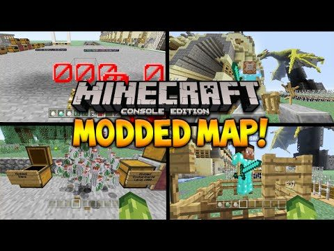 THE ULTIMATE MODDED WORLD!! Minecraft Console Edition – TU35 Custom World Mods, Armor, Tools & More!