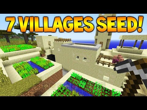 VILLAGE SEED!! Minecraft Console TU36 Seed – 7 Villages, 4 Blacksmiths, 1 Temple (Console Seed)