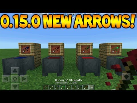 0.15.0 NEW ARROWS!! Minecraft Pocket Edition 0.15.0 Tipped Arrows FULL Guide (Minecraft PE)