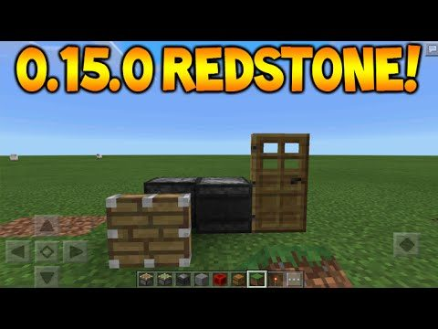 0.15.0 NEW REDSTONE FEATURES!! – Minecraft Pocket Edition Sticky Pistons + Observer Tutorial