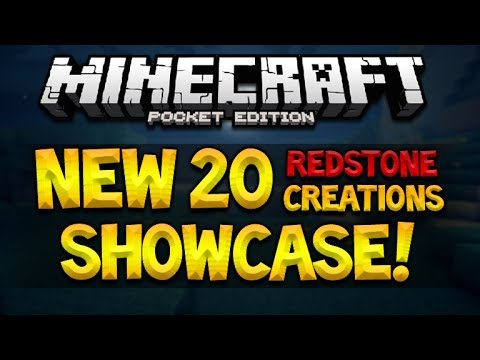 20 Different Minecraft Pocket Edition 0.15.0 Redstone Creations