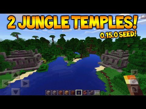 DOUBLE JUNGLE TEMPLE SEED!! – Minecraft Pocket Edition 0.15.0 2 NEW Jungle Temple Seed Showcase