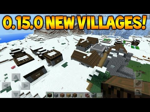 MCPE 0.15.0 NEW VILLAGES!! Minecraft Pocket Edition 0.15.0 NEW Villages + New Village Locations