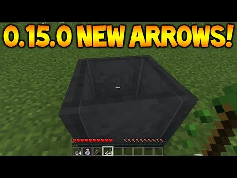 MCPE NEW TIPPED ARROWS!! Minecraft Pocket Edition 0.15.0 NEW Arrows + Beta Release (Minecraft PE)