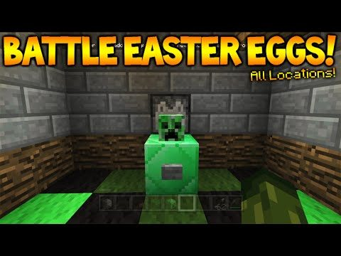 Minecraft Console TU36 BATTLE MODE – All Hidden Easter Egg Mob Heads (Console Edition)