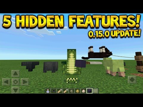 Minecraft Pocket Edition 0.15.0 – 5 Hidden Features Tips & Tricks You Did Not Know (Minecraft PE)