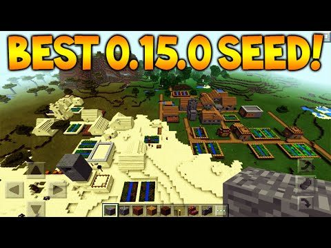 14 ENCHANTED BOOKS SEED! Minecraft Pocket Edition 0.15.0 AMAZING SEED!! Villages + Temples
