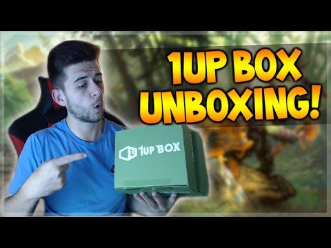 1UP BOX UNBOXING – COOL POP VINYL FIGURES, EXCLUSIVE T-SHIRTS, KEY CHAINS & MORE!