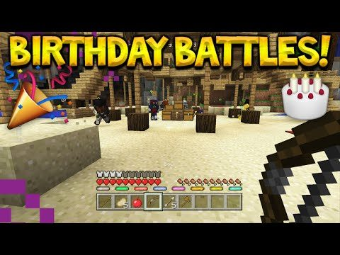 BIRTHDAY STREAM !! – MINECRAFT XBOX – BATTLE MINI-GAME W/ FANS (Console Edition)