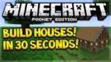BUILD MCPE CITIES IN SECONDS!! Minecraft PE 0.15.3 – Build Castles, Houses & In 30 Seconds!