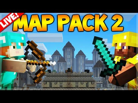 [LIVE] MAP PACK 2! Minecraft Console Edition – Map Pack 2 Atlantis, Ruin, Siege (console Edition)