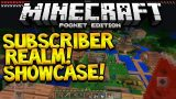 MCPE 0.15.0 REALMS SHOWCASE!! – Minecraft PE Subscriber Realm World Showcase (Pocket Edition)
