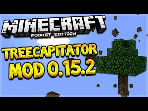 MCPE 0.15.2 TRIPLE MOD SHOWCASE! Minecraft Pocket Edition Treecapitator, drop + Horse Mod (MCPE)