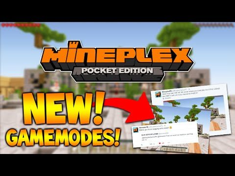 MCPE MINEPLEX GAMEMODES!! Minecraft Pocket Edition MINEPLEX Server Games (Minecraft PE)