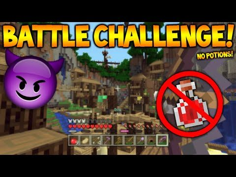Minecraft Console Edition – Battle Mini-Game NO Potions Challenge! (Console Edition)