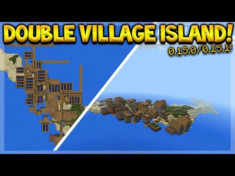 how to make a village in minecraft pocket edition