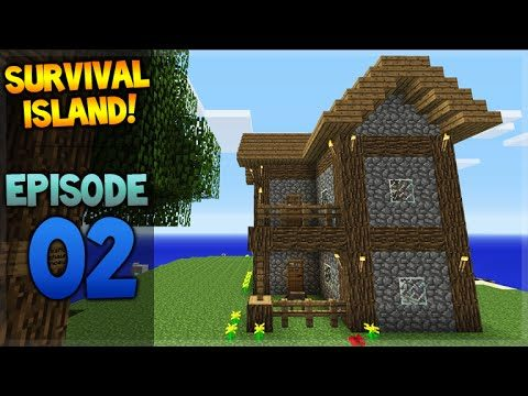 Minecraft Xbox – Survival Island – Let's Build A House Episode 2