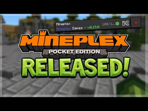 MINEPLEX PE OUT NOW! – Minecraft Pocket Edition – Official Mineplex PE Server RELEASED!