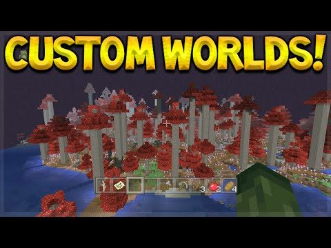 NEW ULTRA AMPLIFIED WORLDS! Minecraft Console Edition – Amplified World + Custom Dimensions Biomes