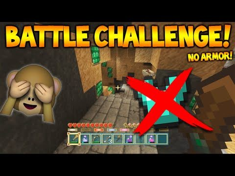 NO ARMOR CHALLENGE!! – Minecraft Console Battle Mini-Game Challenge 3 (Console Edition)