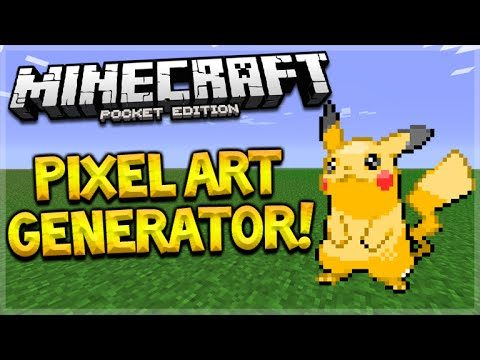 PIXEL ART GENERATOR!! Minecraft Pocket Edition 0.15.3 Pixel Art Generator (Minecraft PE)