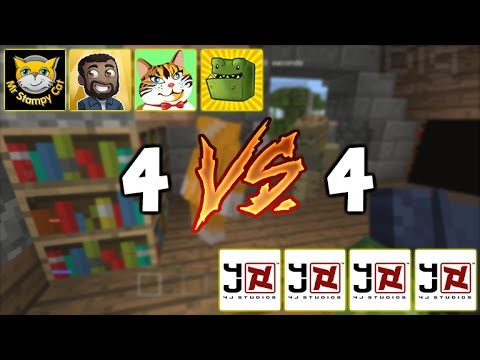 YOUTUBERS Vs 4jSTUDIOS!! Minecraft Console Edition – Battle Mini-Game 4V4 Battle