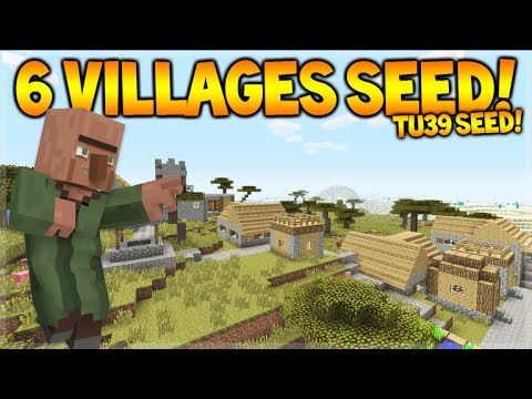 6 DIFFERENT VILLAGES SEED! Minecraft Console TU39 Seed – Villages, Blacksmiths & Temples!
