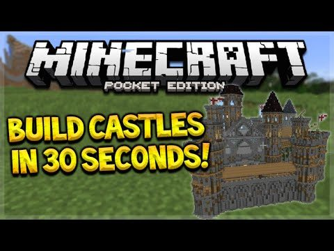 BUILD MCPE CASTLES IN SECONDS!! Minecraft PE 0.15.6 – Build Sky Wars, Castles In 30 Seconds!