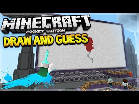 DRAW AND GUESS MCPE!! Minecraft Pocket Edition Brokenlens NEW Mini-Games (Pocket Edition)