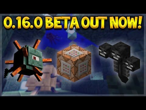MCPE 0.16.0 BETA OUT NOW! Minecraft Pocket Edition 0.16.0 Wither, Guardians & More (Minecraft PE)