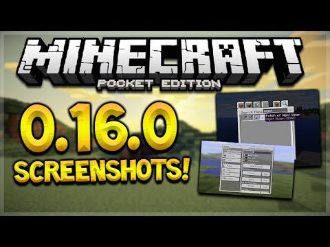 MCPE 0.16.0 SCREENSHOTS! Minecraft Pocket Edition NEW Search Menu & Settings Menu (Pocket Edition)