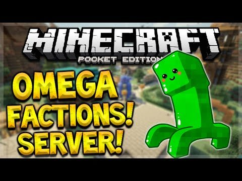 MCPE FACTIONS SERVER!! Minecraft Pocket Edition 0.15.6 OmegaPE Custom Factions (Pocket Edition)