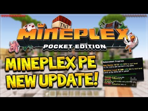 MCPE MINEPLEX SERVER UPDATE!! Minecraft Pocket Edition – Mineplex, Levels, Achievements & More