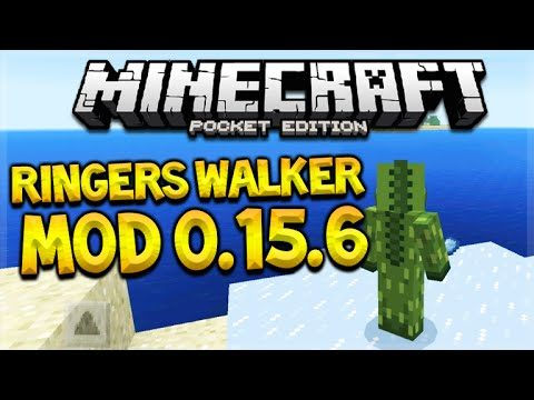 RINGERS WALKER MOD!! Minecraft Pocket Edition 0.15.6 Walk On Lava, Water & Air MOD (Minecraft PE)