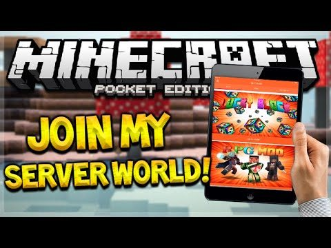 iOS MODS NO JAILBREAK! Minecraft Pocket Edition No Vanilla JOIN MY MODDED WORLD! (Pocket Edition)