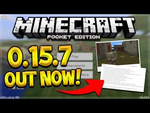 MCPE 0.15.7 OUT NOW! Minecraft Pocket Edition 0.15.7 NEW Changes & Texturepacks (Pocket Edition)